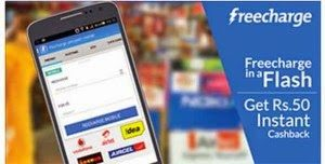 Get Rs. 50 Free Recharge From Freecharge Android App | Rs.10 Recharge