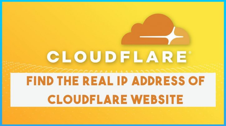 How To Find Real Ip Address Of CloudFlare Websites